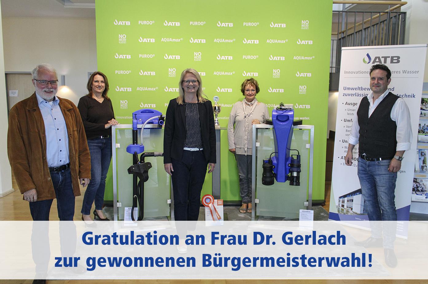 Besuch der Bürgermeisterkandidatin Sonja Gerlach bei ATB