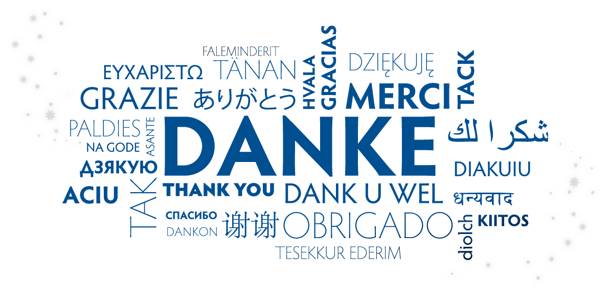 Mehrsprachiges Danke