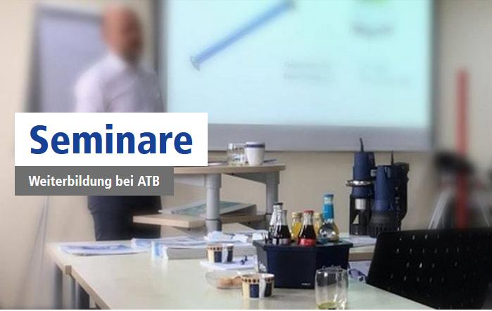 Seminare in den Schulungsräumen von ATB WATER