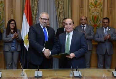Markus Baumann mit ägyptischem Minister