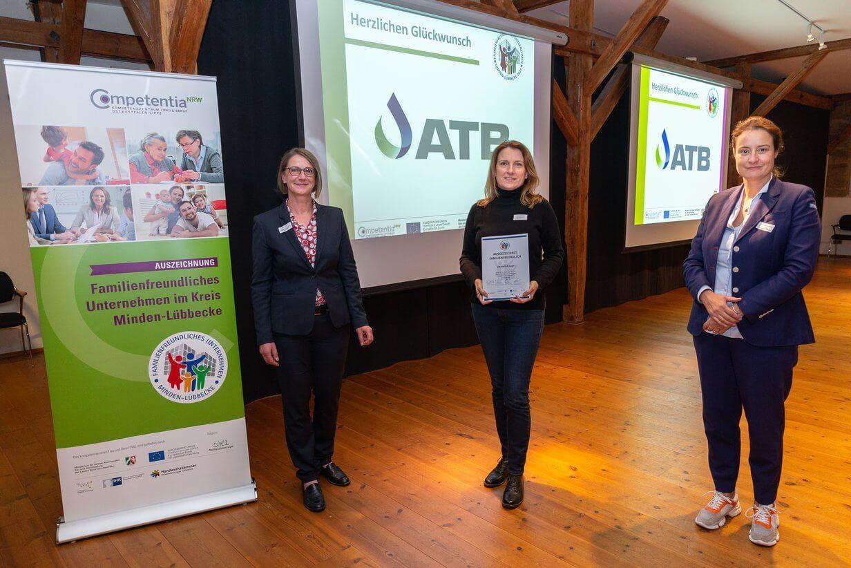 Auszeichnung familienfreundliches Unternehmen ATB