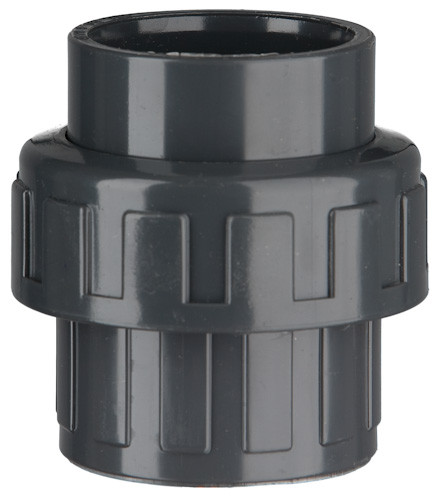 "PVC-Kupplung, 10 bar 50 x 50 mm,2 1/4"" IG, 2 x Klebemuffe"