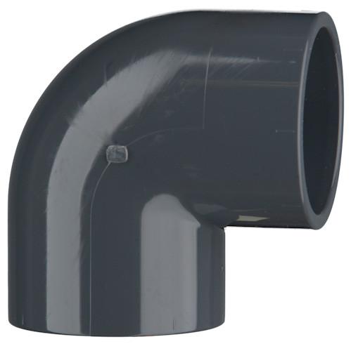 PVC-Winkel 90°, 16 bar 32 mm, 2 x Klebemuffe