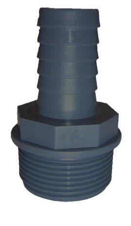 """PVC 1/3 Tülle 1 1/2"""" AG x 40 mm"""