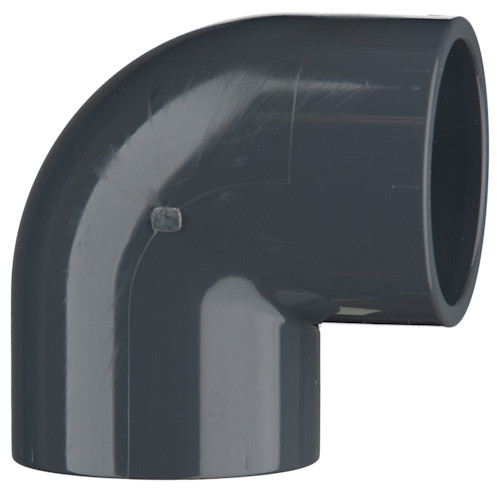 PVC-Winkel 90°, 16 bar 50 mm, 2 x Klebemuffe