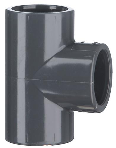 PVC-T-Stück 90°, 10 bar 40 mm, 3 x Klebemuffe