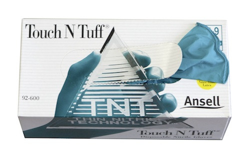 Einweghandschuhe Touch N Tuff L Größe 8,5 - 9