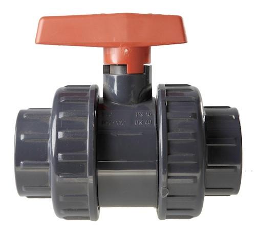 PVC-Kugelhahn, 10 bar 32 mm, 2 x Klebemuffe