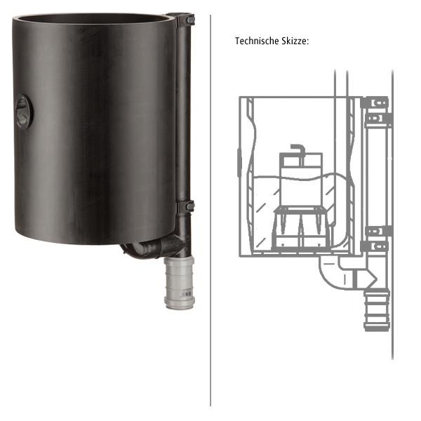 PE-Pumpenschacht Ø 300 mm ohne Pumpe
