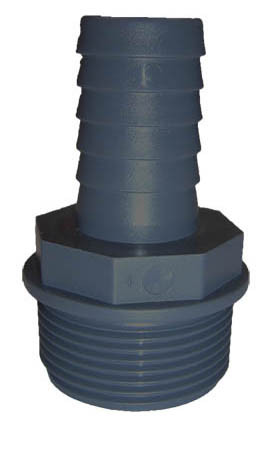 """PVC 1/3 Tülle 1"""" AG x 31 x 34 mm"""