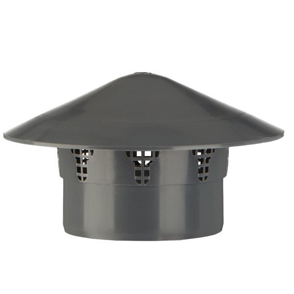 Entlüftungshaube grau DN 110 mm