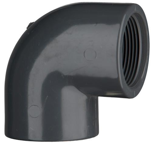 "PVC-Winkel 90°, 10 bar 1 1/2"" IG, 2 x Innengewinde"