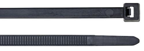 Kabelbinder schwarz 300 x 4,8 mm
