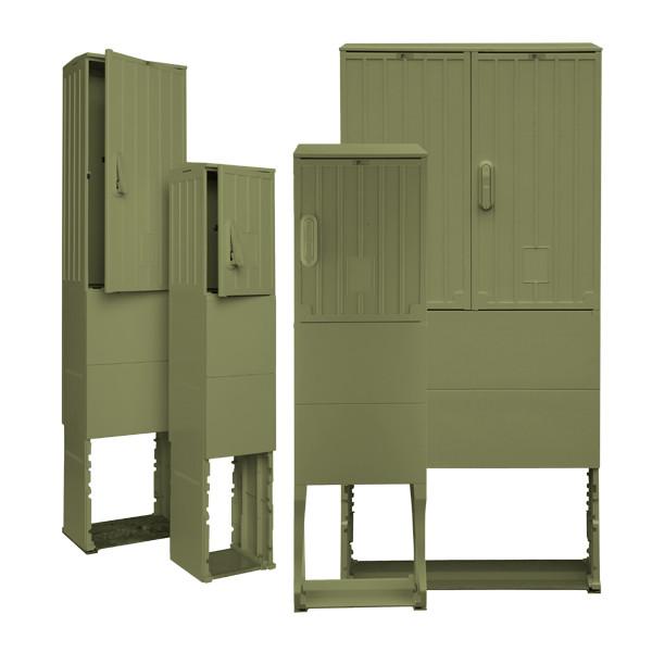 Freiluftsäule olivgrün OSZ 40 x 50