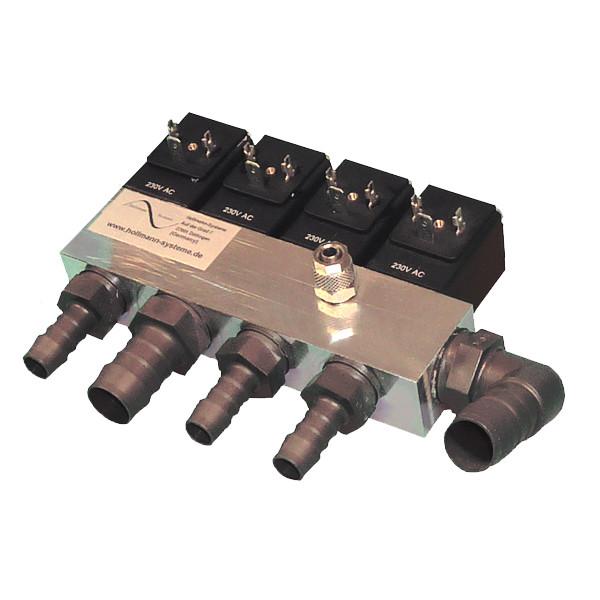 Luftverteilerleiste 4-fach mit Anschlusstüllen