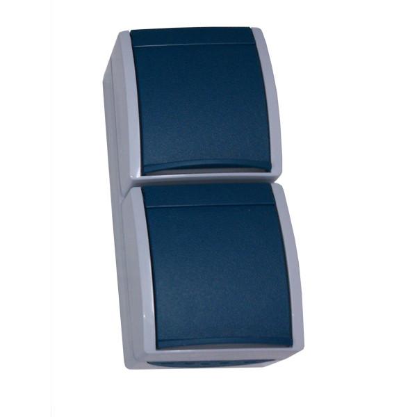 Aufputz-Steckdose Steckdose 2f senkrecht
