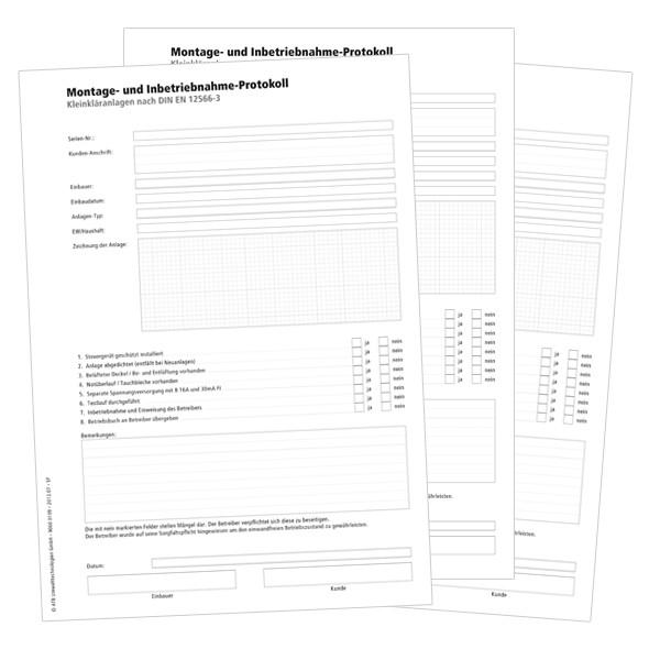 Montage- und Inbetriebnahme-Protokoll
