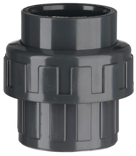 "PVC-Kupplung, 10 bar 40 x 40 mm, 2"" IG, 2 x Klebemuffe"