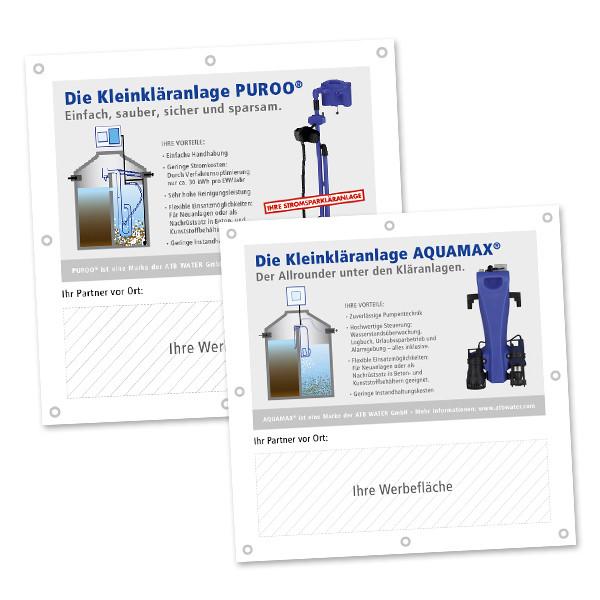 Individuelle ATB-Kunden-Banner Ideal für Baustellenwerbung
