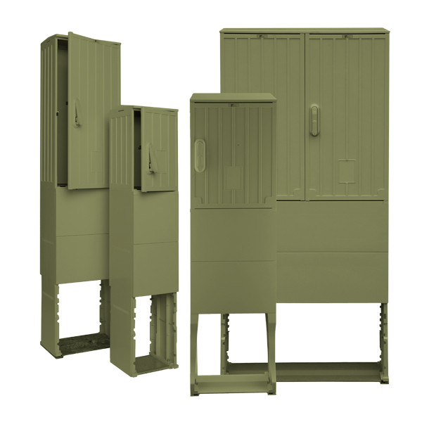 Freiluftsäule olivgrün OSZ 40 x 80